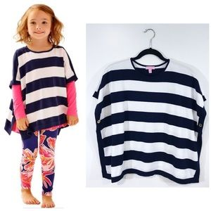 [Lilly Pulitzer] Striped Button Hayley Poncho